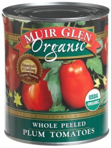 Muir Glen Organic consistently wins the taste tests at America's Test Kitchen, so I stick with that brand.